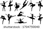 Ballerina Silhouette Ballet...