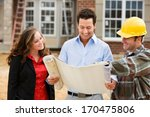 construction  architects review ... | Shutterstock . vector #170475806