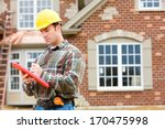 construction  home inspector... | Shutterstock . vector #170475998