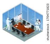 isometric man wearing a... | Shutterstock .eps vector #1704771823