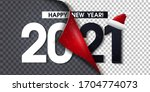 2021 happy new year black... | Shutterstock .eps vector #1704774073