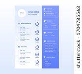 cv resume design template... | Shutterstock .eps vector #1704785563