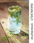 Matcha Cold Green Milk Tea ...