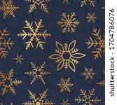 winter design. gold snowflakes... | Shutterstock .eps vector #1704786076