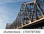 Metal Bridge Tussles  And Blue...