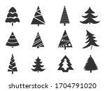 set of christmas  trees...   Shutterstock .eps vector #1704791020