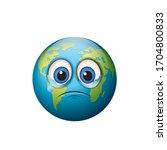 crying earth emoji   sad... | Shutterstock .eps vector #1704800833