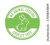 cruelty free  no animal testing ...   Shutterstock .eps vector #1704845809