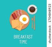 breakfast concept illustration. ...   Shutterstock .eps vector #1704848923