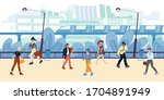 cityscape  buildings  apartment ... | Shutterstock .eps vector #1704891949