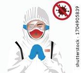 covid 19 or coronavirus concept.... | Shutterstock .eps vector #1704905839