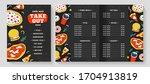fast food menu  vector leaflet... | Shutterstock .eps vector #1704913819