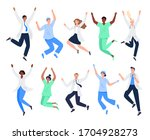 set of happy medicine workers....   Shutterstock .eps vector #1704928273