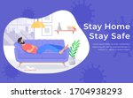 quarantine and self isolation... | Shutterstock .eps vector #1704938293
