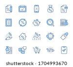 set of credit and loan related... | Shutterstock .eps vector #1704993670