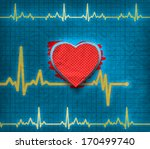 heart cardiogram on paper | Shutterstock . vector #170499740