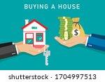 businessman buy house   vector...   Shutterstock .eps vector #1704997513