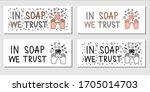 in soap we trust flat hand...   Shutterstock .eps vector #1705014703