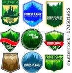 vector set of vintage forest...   Shutterstock .eps vector #170501633