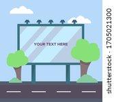 billboard mockup in vector flat ... | Shutterstock .eps vector #1705021300