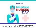 international nurses day.... | Shutterstock .eps vector #1705027270