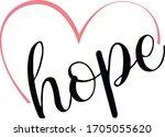 elegant  heart  hope  symbol ... | Shutterstock .eps vector #1705055620