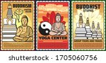 buddhism religion  yoga courses ...   Shutterstock .eps vector #1705060756