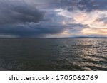 Landscape Of A Lake With Storm...