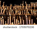 Many Candles Burning In A...