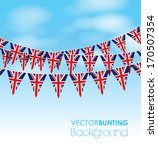 uk bunting on a sky background   Shutterstock .eps vector #170507354
