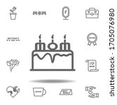 mothers day cake outline icon....