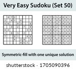 vector sudoku puzzle with... | Shutterstock .eps vector #1705090396