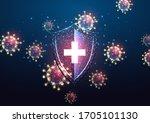 futuristic immune system... | Shutterstock .eps vector #1705101130