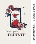 old school tattoo poster   i... | Shutterstock .eps vector #1705111936