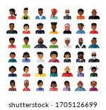 set of people avatar flat... | Shutterstock .eps vector #1705126699