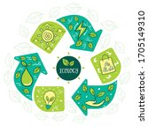 recycle for the life cycle.... | Shutterstock .eps vector #1705149310