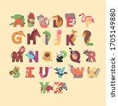 Cartoon Animals Alphabet For...