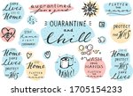 vector isolated pastel badges... | Shutterstock .eps vector #1705154233