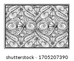 black and white decorative...   Shutterstock .eps vector #1705207390