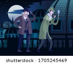 detective sherlock holmes and... | Shutterstock .eps vector #1705245469