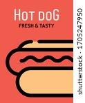 vector hot dog background... | Shutterstock .eps vector #1705247950