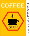 template for text for coffee...   Shutterstock .eps vector #1705249819
