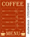 template for text for coffee...   Shutterstock .eps vector #1705249840