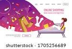 website design template for... | Shutterstock .eps vector #1705256689
