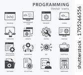 programming icon set. software  ...   Shutterstock .eps vector #1705266556
