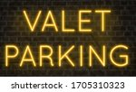 colorful neon sign on brick...   Shutterstock . vector #1705310323