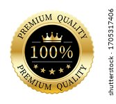 100  premium quality crown and... | Shutterstock .eps vector #1705317406