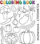Coloring Book Vegetable...