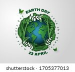 world environment and earth day ...   Shutterstock .eps vector #1705377013