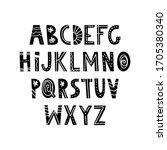 cute alphabet in nordic hygge...   Shutterstock .eps vector #1705380340